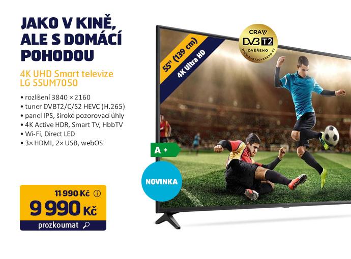 4K UHD Smart televize LG 55UM7050