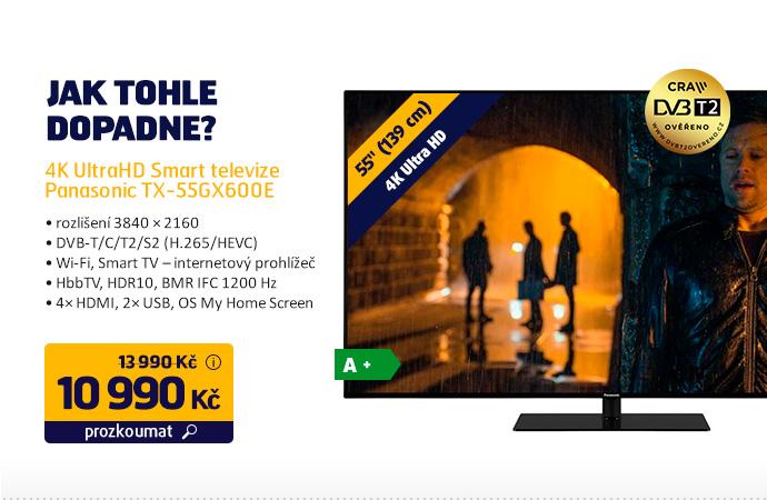 4K UltraHD Smart televize Panasonic TX-55GX600E