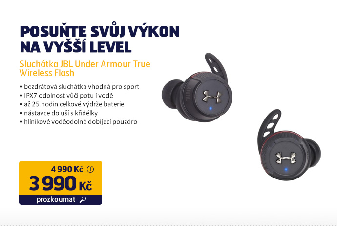 Sluchátka JBL Under Armour True Wireless Flash
