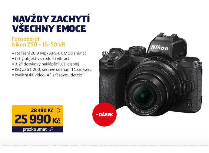 Fotoaparát Nikon Z50 + 16-50 VR