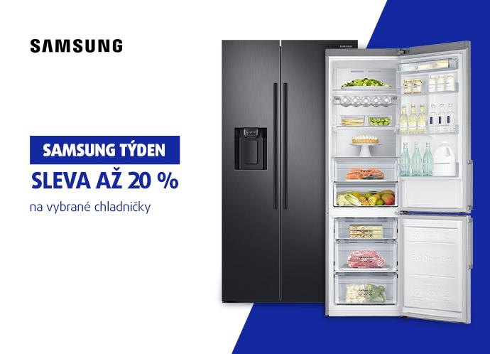 Sleva až 20 % na chladničky Samsung