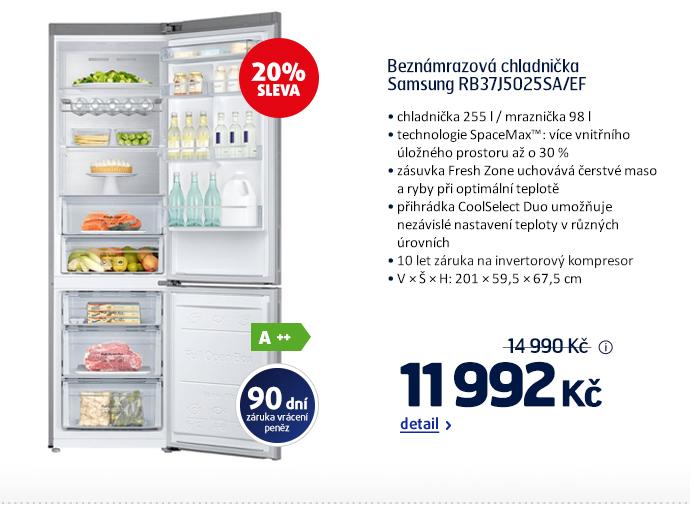 Beznámrazová chladnička Samsung RB37J5025SA/EF
