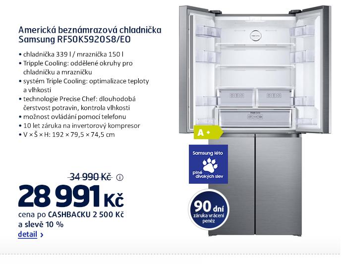 Americká beznámrazová chladnička Samsung RF50K5920S8/EO
