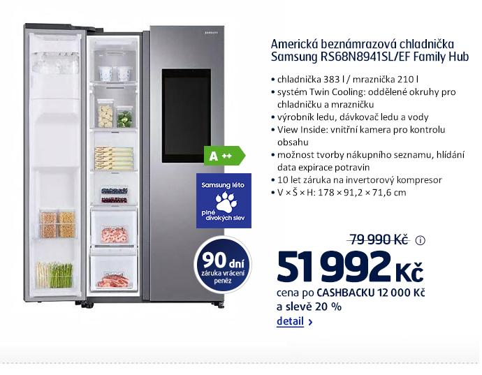 Americká beznámrazová chladnička Samsung RS68N8941SL/EF Family Hub
