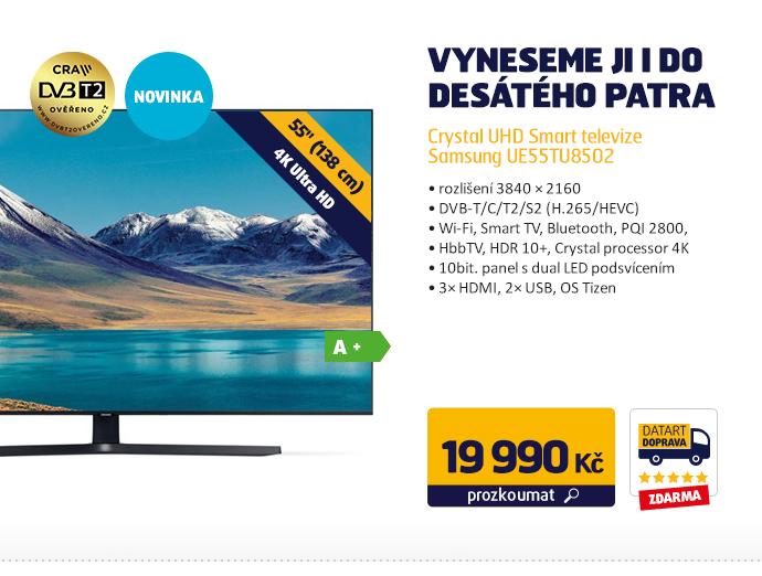 Crystal UHD Smart televize Samsung UE55TU8502