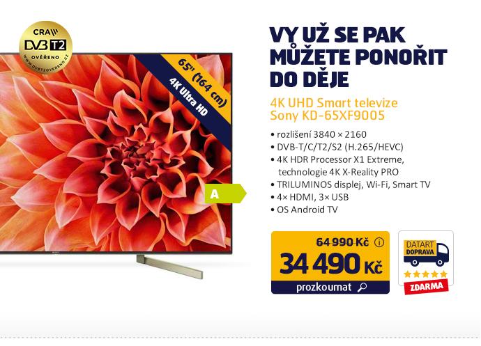 4K UHD Smart televize Sony KD-65XF9005