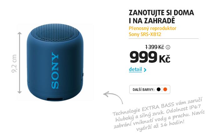 Přenosný reproduktor Sony SRS-XB12