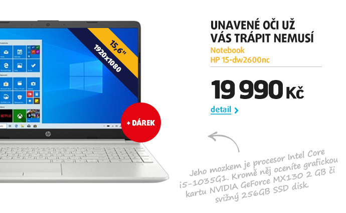 Notebook HP 15-dw2600nc