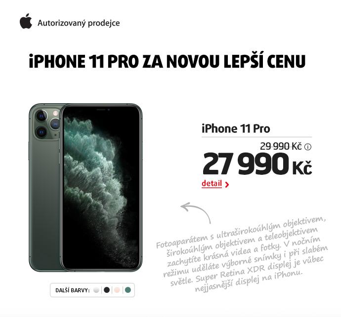 iPHONE 11 PRO ZA NOVOU LEPŠÍ CENU