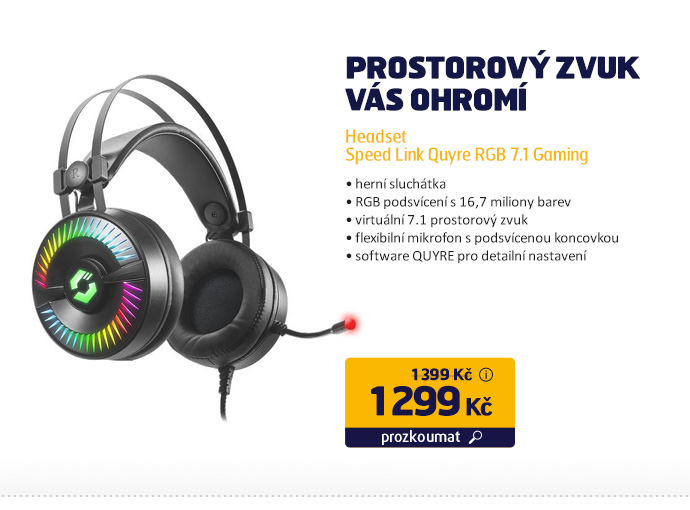 Headset Speed Link Quyre RGB 7.1 Gaming