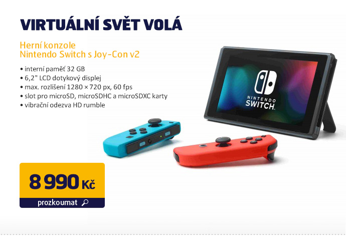 Herní konzole Nintendo Switch s Joy-Con v2