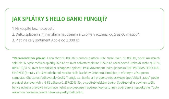 Jak splátky s Hello bank! fungují?