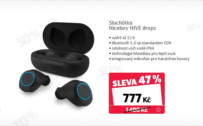 Sluchátka Niceboy HIVE drops