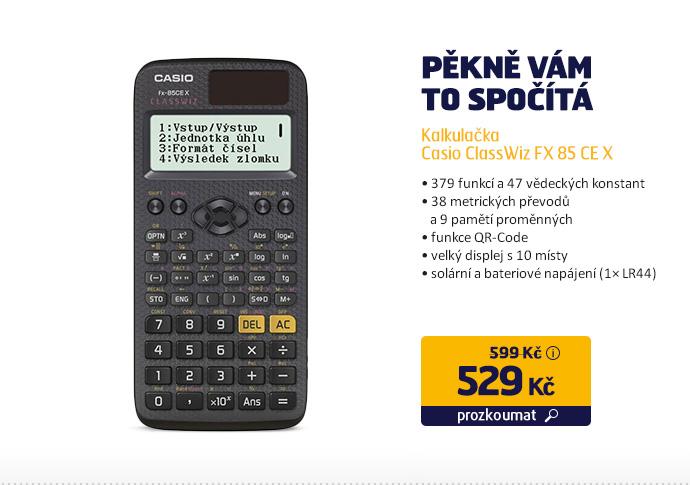 Kalkulačka Casio ClassWiz FX 85 CE X