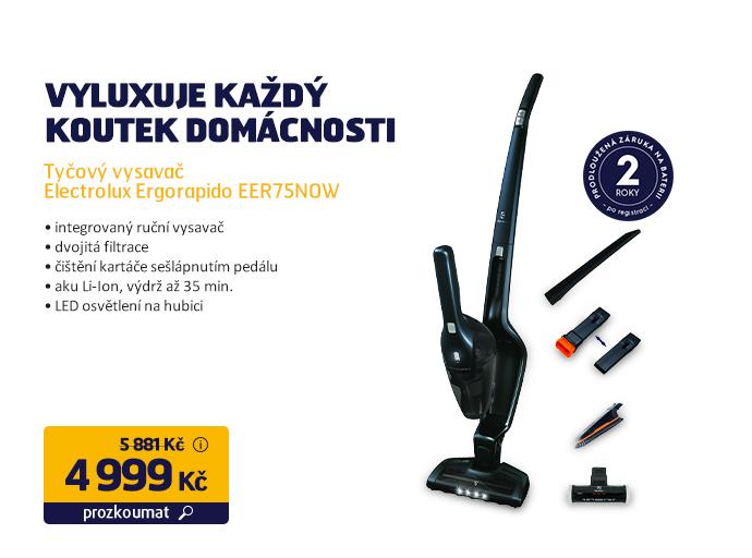 Tyčový vysavač Electrolux Ergorapido EER75NOW