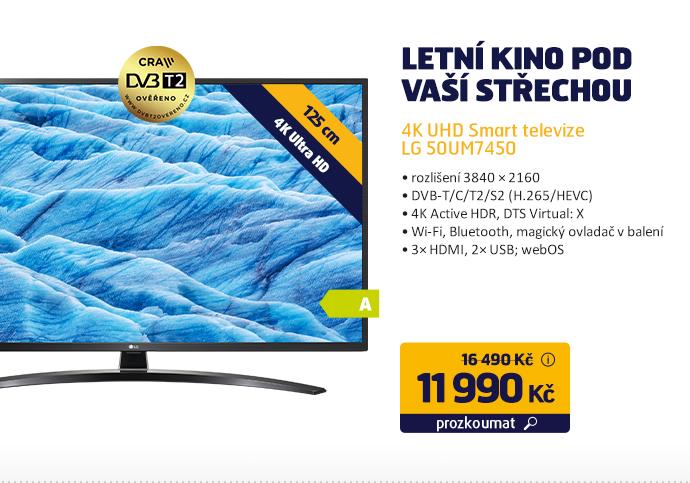 4K UHD Smart televize LG 50UM7450