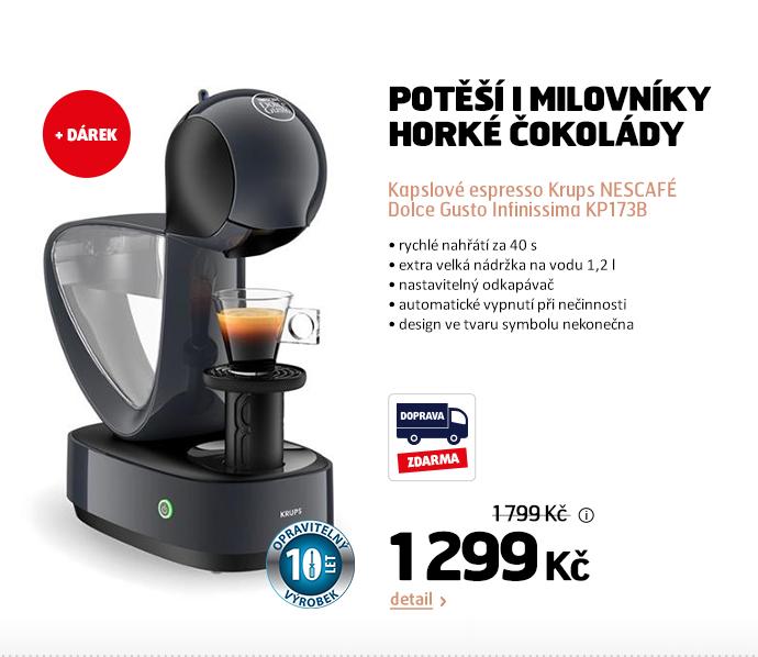 Kapslové espresso Krups NESCAFÉ Dolce Gusto Infinissima KP173B