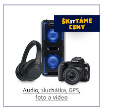 Audio, sluchátka, GPS, foto a video