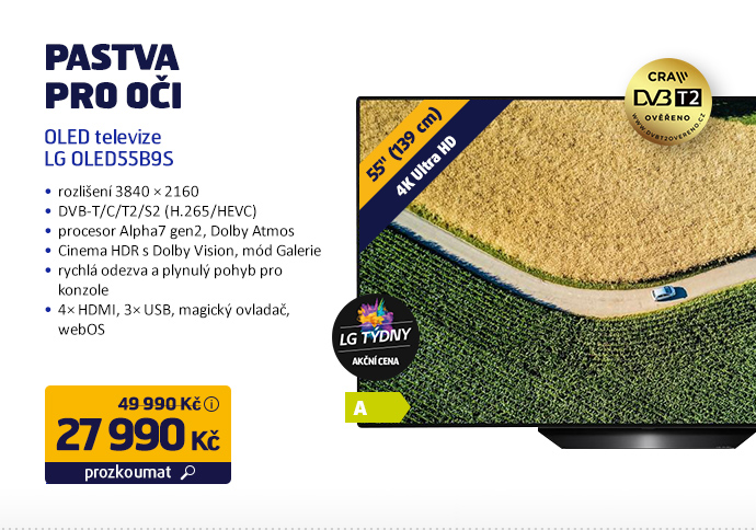 OLED televize LG OLED55B9S