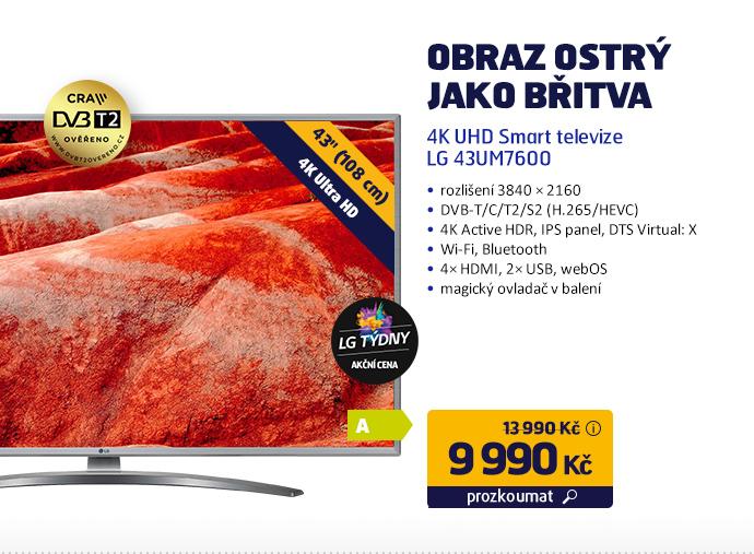4K UHD Smart televize LG 43UM7600