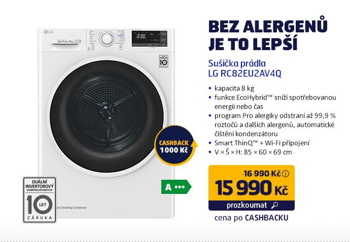 Sušička prádla LG RC82EU2AV4Q