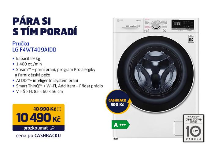 Pračka LG F4WT409AIDD