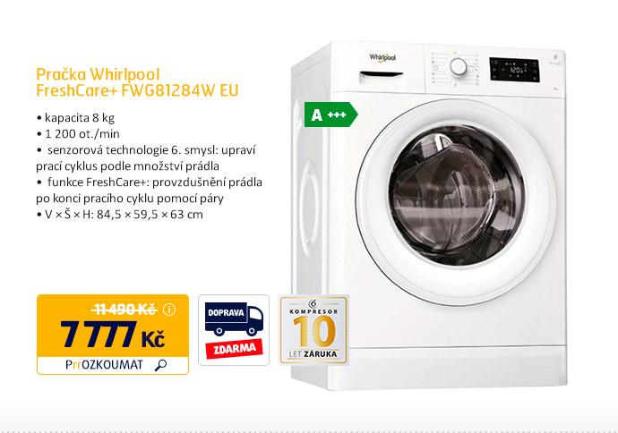 Pračka Whirlpool FreshCare+ FWG81284W EU