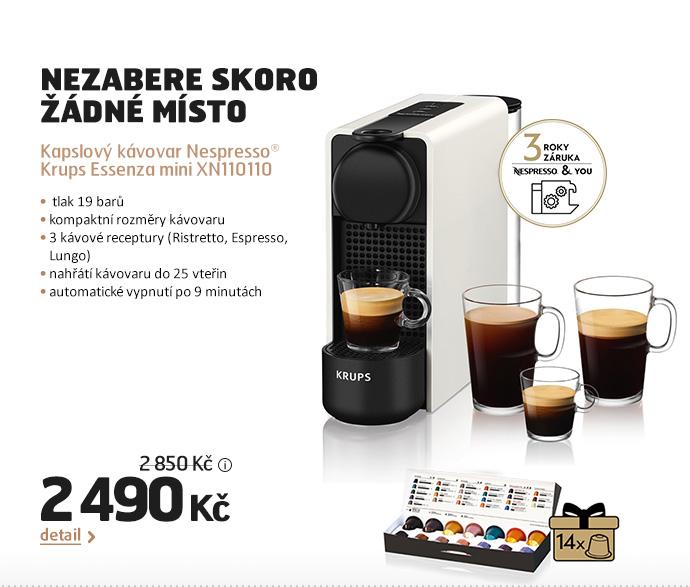 Kapslový kávovar Nespresso® Krups Essenza mini XN110110