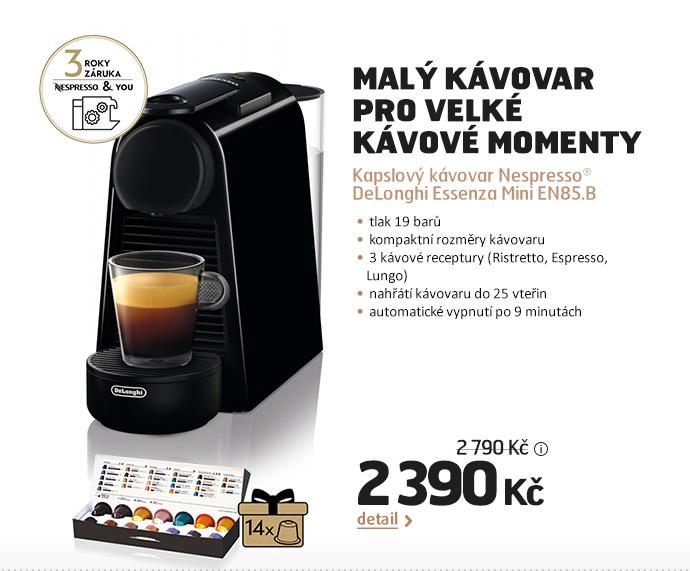 Kapslový kávovar Nespresso® DeLonghi Essenza Mini EN85.B