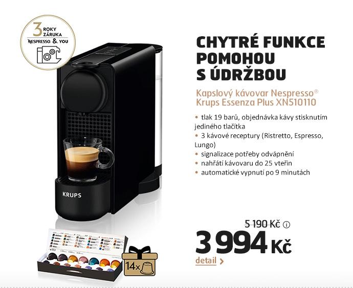 Kapslový kávovar Nespresso® Krups Essenza Plus XN510110