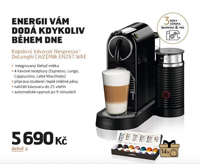 Kapslový kávovar Nespresso® DeLonghi CitiZ&Milk EN267.WAE