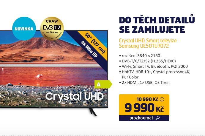 Crystal UHD Smart televize Samsung UE50TU7072