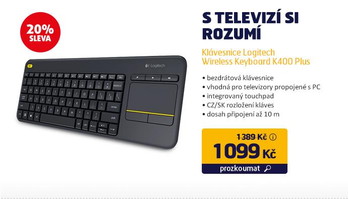 Klávesnice Logitech Wireless Keyboard K400 Plus