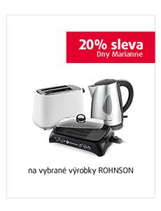 20% sleva na vybrané výrobky Rohnson