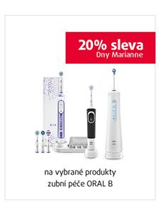 20% sleva na vybrané produkty zubní péče ORAL B
