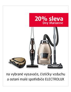 20% sleva na vybrané vysavače, čističky vzduchu a ostatní sda ELECTROLUX