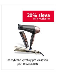 20% sleva na vybrané výrobky pro vlasovou péči REMINGTON