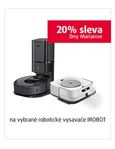 20% sleva na vybrané robotické vysavače IROBOT