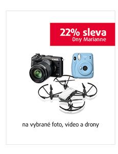 22% sleva na vybrané foto, video a drony