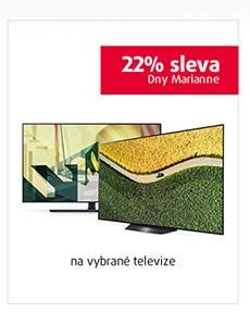22% sleva na vybrané televize