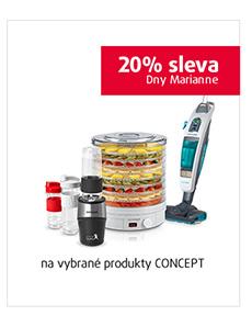 20% sleva na vybrané produkty CONCEPT