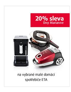 20% sleva na vybrané malé domácí spotřebiče ETA