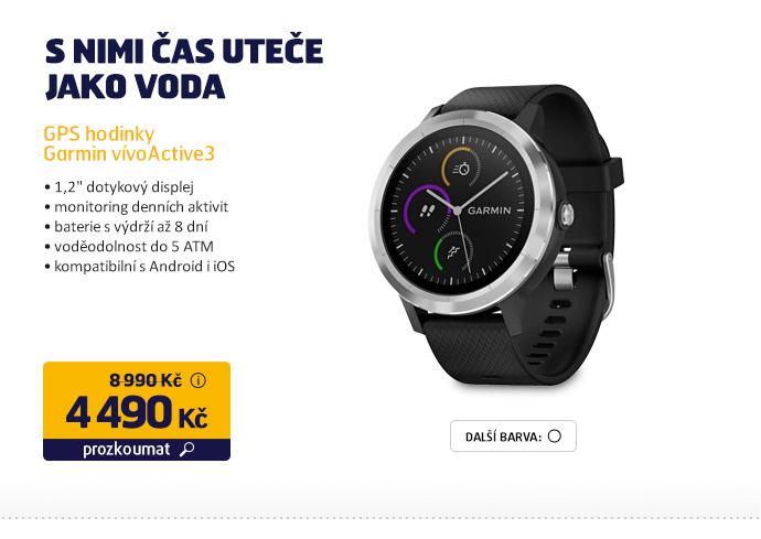 GPS hodinky Garmin vívoActive3