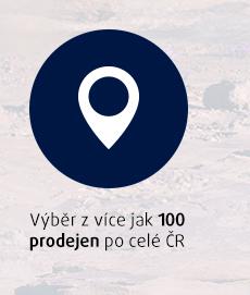 Výběr z více jak 100 prodejen po celé ČR