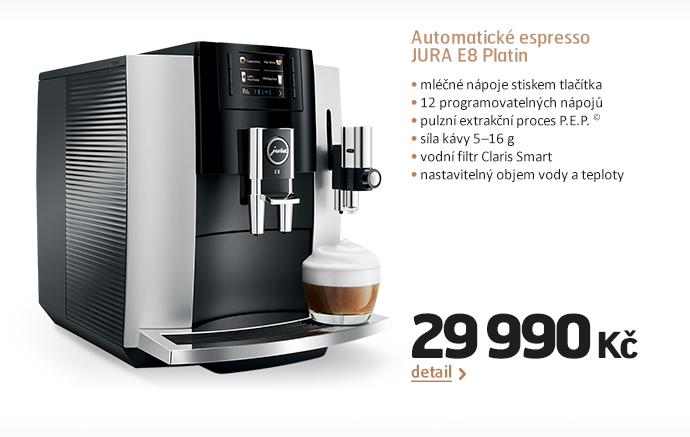 Automatické espresso JURA E8 Platin