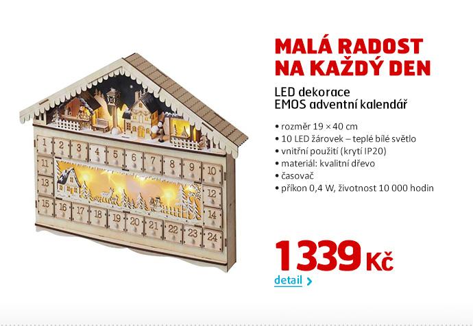 LED dekorace EMOS adventní kalendář