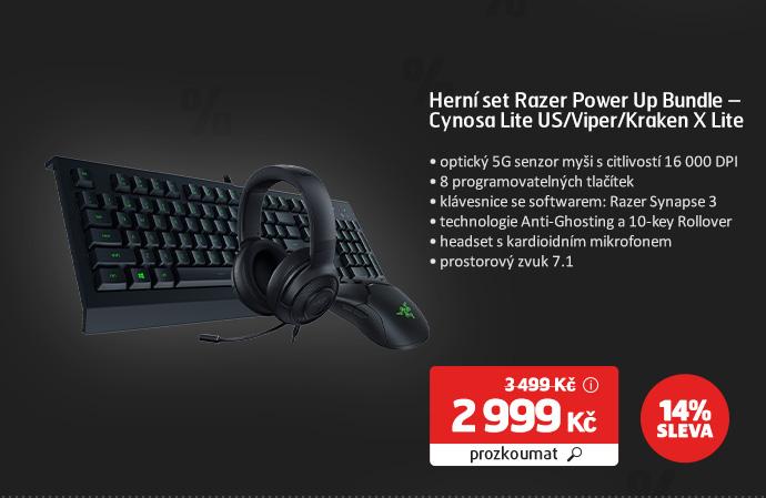 Herní set Razer Power Up Bundle – Cynosa Lite US/Viper/Kraken X Lite