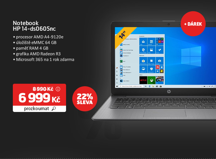 Notebook HP 14-ds0605nc
