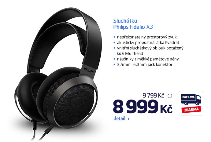Sluchátka Philips Fidelio X3