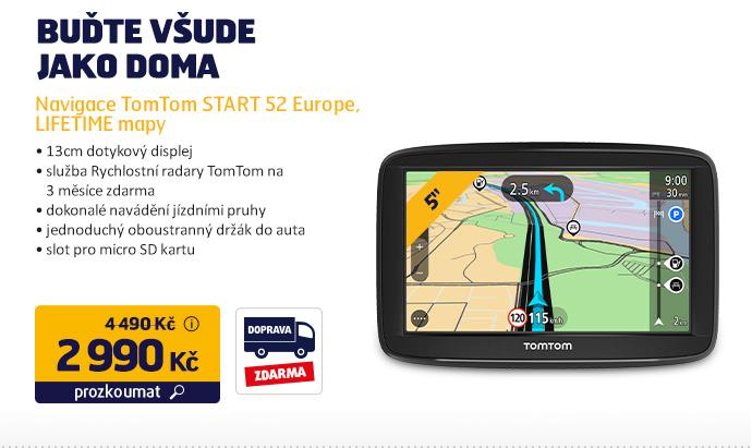 Navigace TomTom START 52 Europe, LIFETIME mapy